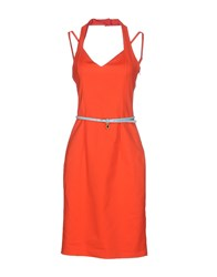 Frankie Morello Dresses Knee Length Dresses Women Orange