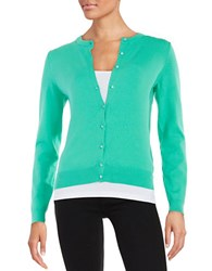 Lord And Taylor Essential Cardigan Spearmint