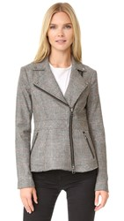 Veronica Beard Mulholland Moto Blazer Black Multi