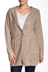 Bacci Hooded Knit Cardigan Brown