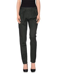 M.Grifoni Denim Trousers Casual Trousers Women Dark Green