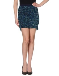 By Zoe Mini Skirts Dark Blue