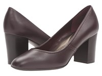 Easy Spirit Arissa Wine Leather Women's Shoes Burgundy