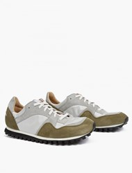 Spalwart Khaki And Grey Suede Marathon Trail Sneakers