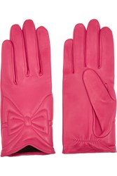 Agnelle Leather Gloves Pink