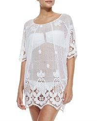 Miguelina Jessica Sheer Scalloped Caftan