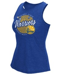 Adidas Women's Golden State Warriors Well Rounded Rhinestone Tank Blue