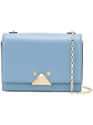 Emporio Armani Logo Plaque Crossbody Bag Blue