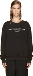 Off White Black 'I Only Smoke When I Drink' Pullover