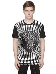Versus Embroidered Psychedelic Jersey T Shirt