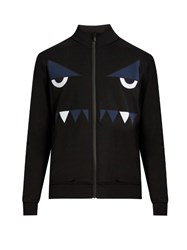 Fendi Bag Bugszip Through Nylon Sweatshirt Black