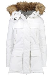 Napapijri Skidoo Winter Coat Ivory White
