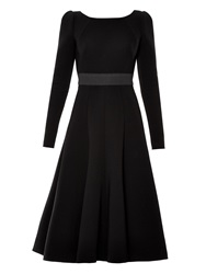 Dolce And Gabbana Open Back Long Sleeved Midi Dress