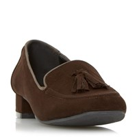 Linea Gibley Tassel Loafers Brown