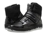 Just Cavalli Viper Horse Leather And Patent Leather Black Men's Shoes
