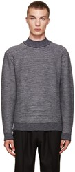 Wooyoungmi Grey Mock Neck Sweater