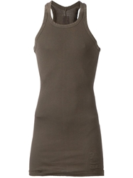 Rick Owens Drkshdw Long Racer Back Tank Grey