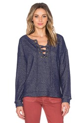 Sanctuary Lace Up Day Beacon Top Navy