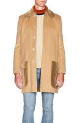 J.W.Anderson J.W. Anderson High Neck Wool Coat In Neutrals