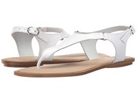 Massimo Matteo Thong Ankle Strap White Women's Sandals