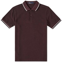 Fred Perry Slim Fit Twin Tipped Polo Burgundy