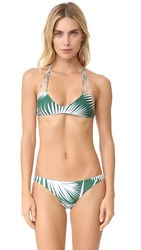 Mikoh Banyans String Racer Back Bikini Top Botanical Forest