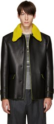 Fendi Black Shearling Collar Jacket
