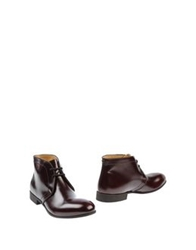 Raparo Ankle Boots Maroon