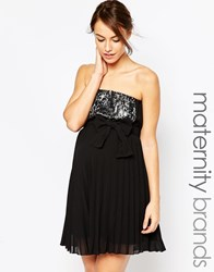 Ripe Maternity Sophie Strapless Dress With Sequin Panel Black