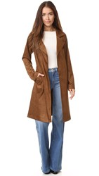 Bb Dakota Zalika Faux Suede Coat Antelope