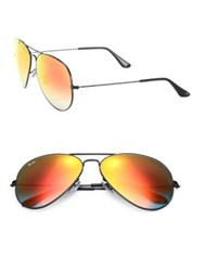 Ray Ban Metal Mirrored Aviator Sunglasses Black Blue Black Red Black Green