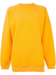 Aries Plain Sweatshirt Yellow And Orange