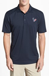 Men's Cutter And Buck 'Houston Texans Genre' Drytec Moisture Wicking Polo Navy Blue