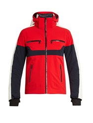 Fusalp Carlo Hooded Ski Jacket Red Multi