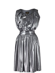 Vivienne Westwood Anglomania Gardner Pleated Dress Silver Silver