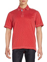 Saks Fifth Avenue Jersey Polo Shirt Red