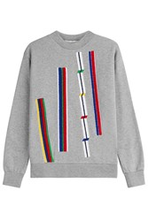 Etre Cecile Cotton Sweatshirt With Textured Applique Grey