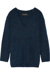 By Malene Birger Gittana Stretch Knit Sweater Cobalt Blue