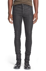 Men's Rick Owens Drkshdw 'Torrence' Coated Skinny Jeans Black Waxed