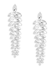 Design Lab Lord And Taylor Crystal Vine Drop Earrings Silver