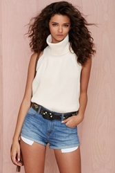 Nasty Gal Knitz Keep It Cozy Halter Top