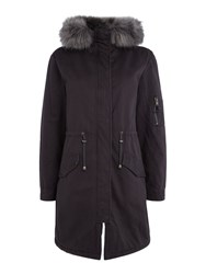 Label Lab Casual Parka Charcoal