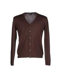 O Jhearte Collection Knitwear Cardigans Men Dark Brown