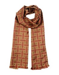 Contileoni Oblong Scarves Maroon
