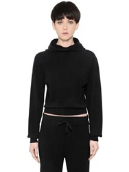 Calvin Klein Hooded Cropped Cashmere Sweater