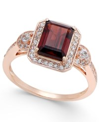 Macy's Garnet 1 3 4 Ct. T.W. And White Sapphire 1 4 Ct. T.W. Ring In 14K Rose Gold