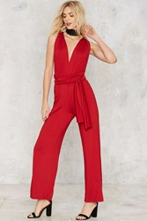 Nasty Gal All Time Low Halter Jumpsuit