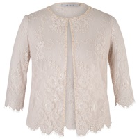 Chesca Lace Jacket Champagne