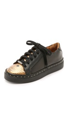 Mcm Lace Up Low Top Sneakers Visetos Bronze