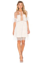 Kendall Kylie Panel Lace Babydoll Dress White